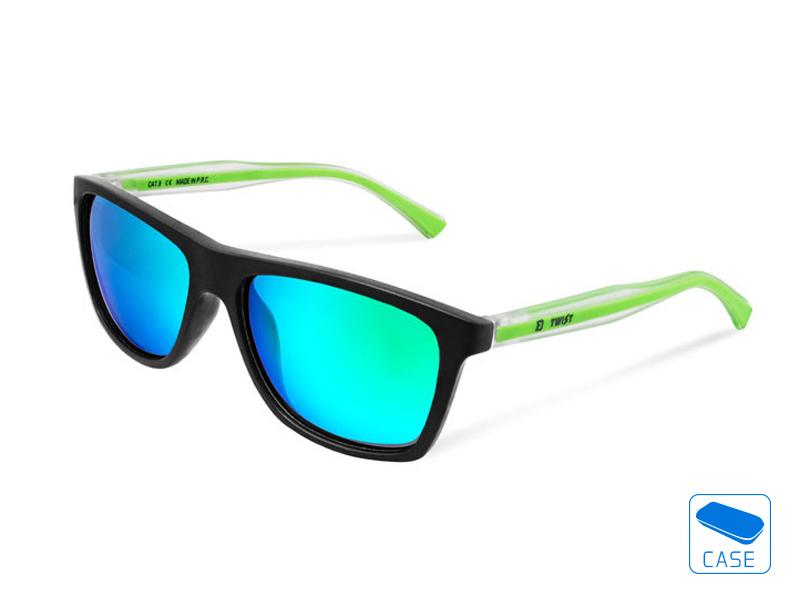 Polarizačné okuliare Delphin SG TWIST zelené sklá
