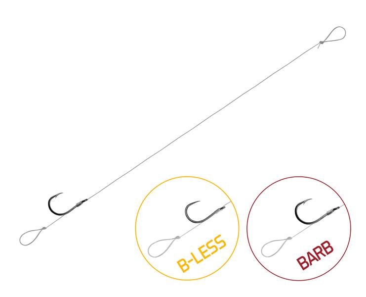 Feedrový nadväzec Delphin FLR Loop / 6ks8cm #8