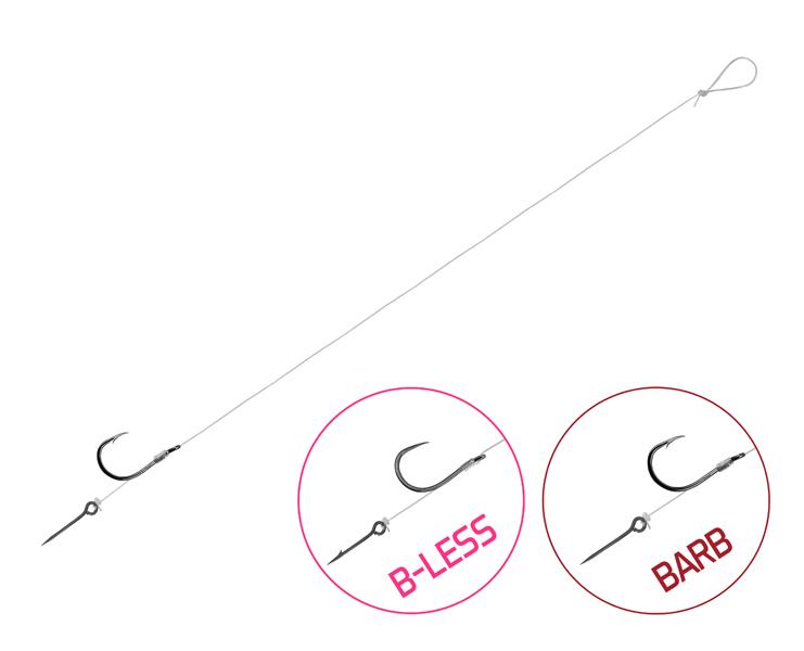 Feedrový nadväzec Delphin FLR Sting / 6ks8cm #8
