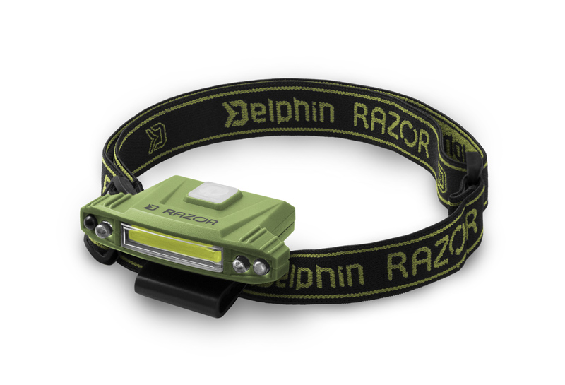 Čelová lampa Delphin RAZOR USB