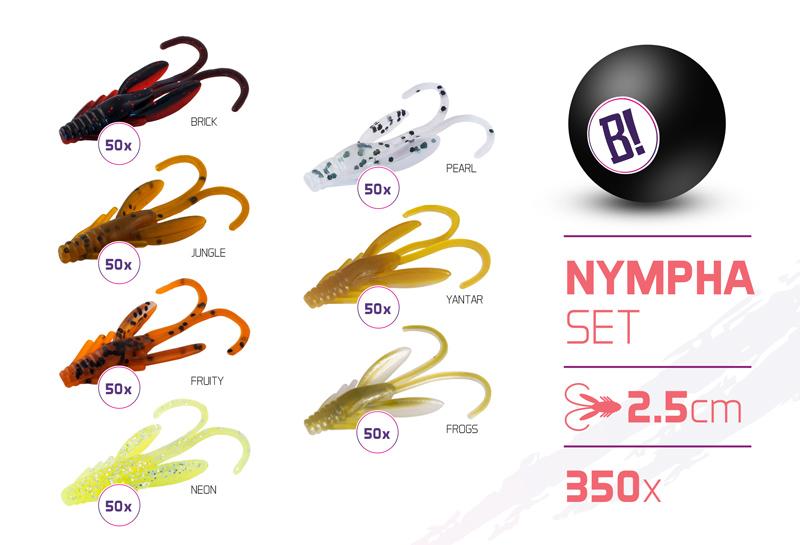 Sada nástrah BOMB Nympha / 350ks2,5cm
