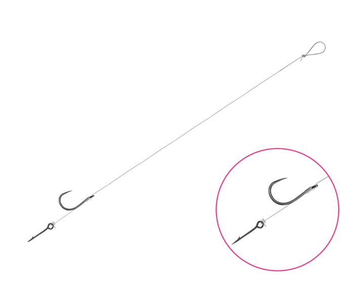 Feedrový nadväzec Delphin FLR Sting / 6ks8cm #6 SM