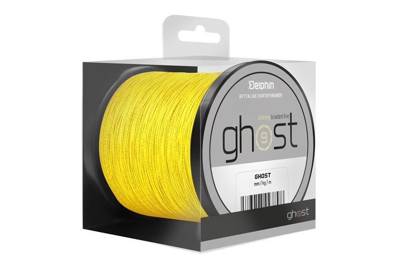 Delphin GHOST 8+1 žltá0,18mm 20lbs 200m