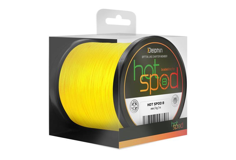Delphin HotSPOD 8 / žlutá,0,14mm 9,60kg 300m