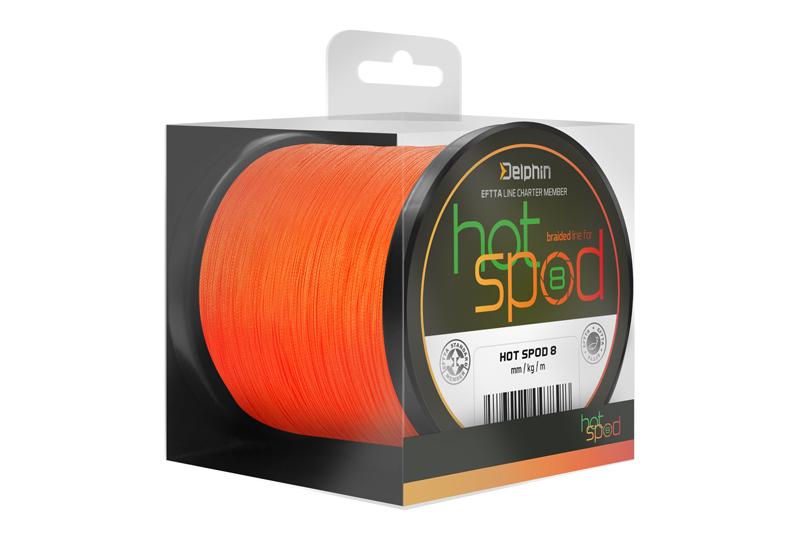 Delphin HotSPOD 8 / oranžová,0,14mm 9,60kg 300m