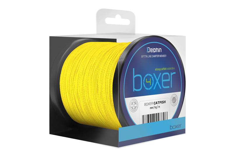 Delphin BOXER 4 / fluo žlutá,0,70mm 62,80kg 1100m