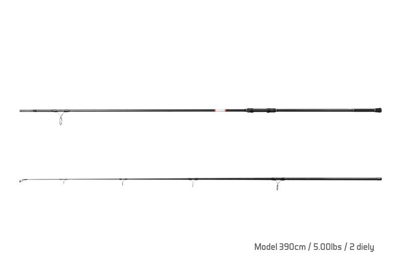 Prut Delphin Bomber - 2 díly 390cm/5,00lbs