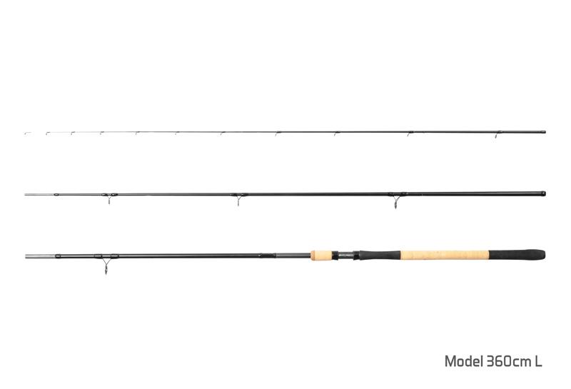 Prut Delphin Rytual Feeder + 3 špičky 360cm/Light