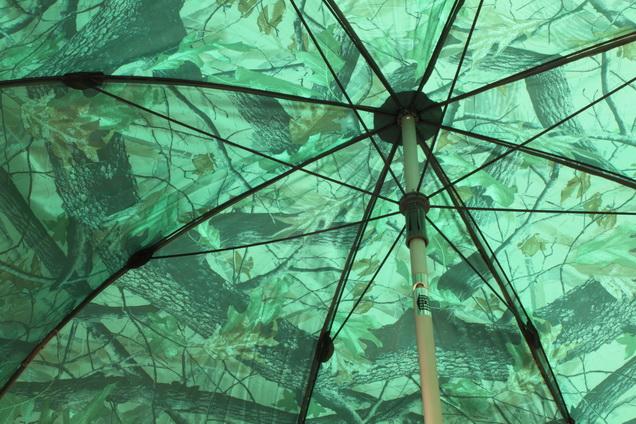 Dáždnik PVC s predlženou bočnicou 250cm/kamufláž