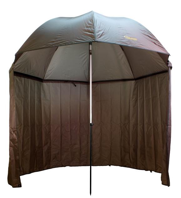 Dáždnik DELPHIN s predlženou bočnicou250cm/zelená