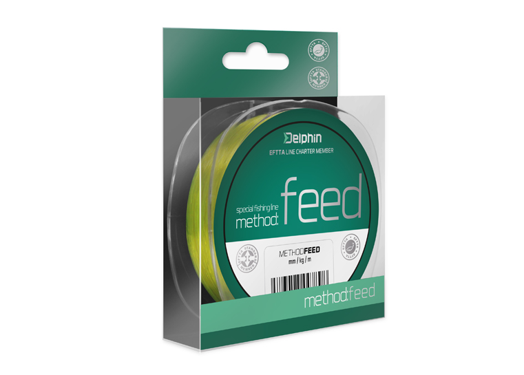 Delphin Method FEED žltá 150m 0,14mm 4lbs