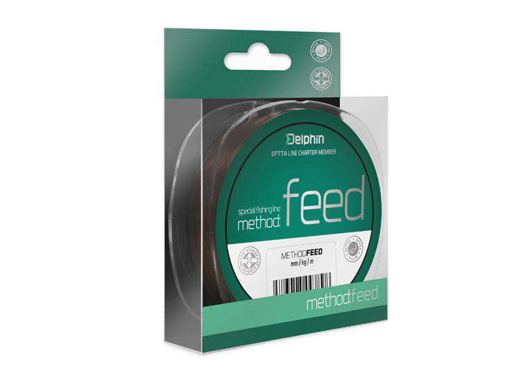 Delphin Method FEED hnedá 150m 0,14mm 4lbs