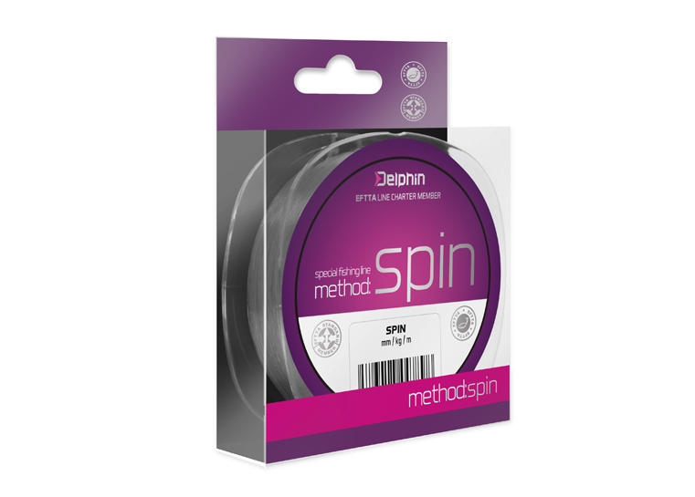 Delphin Method SPIN sivá 150m 0,10mm 2,2lbs
