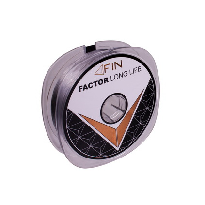FIN FACTOR LONG LIFE  100m/sivá0,14mm 4lbs