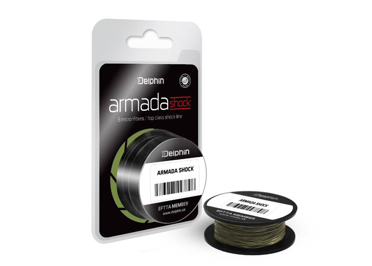Delphin ARMADA SHOCK zelená 20m 0,18mm 40lbs