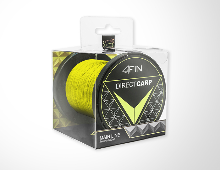 FIN RECORD CARP 600m/fluo žltá0,16mm 13,6lbs