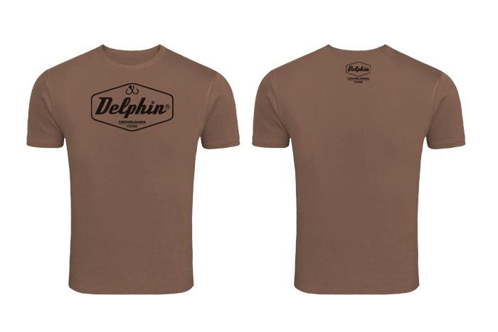 Tričko Delphin Czechoslovakiahnedá / M