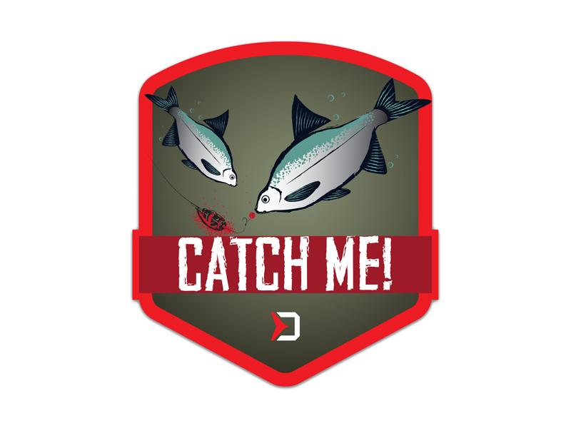 Nálepka Delphin CatchME! FEEDER 9x8cm