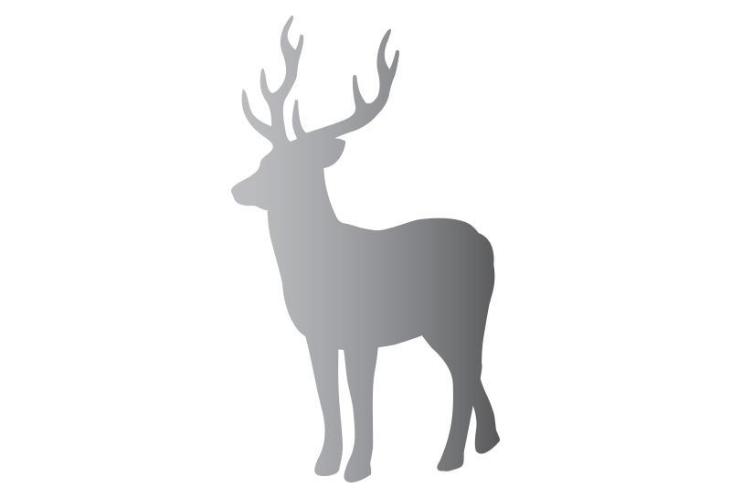 Nálepka jeleň silueta SILVER