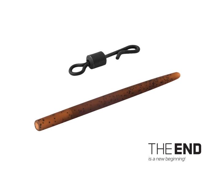 Rychlovýměnný obratlík s gumičkou Delphin THE END G-ROUND 6ks #4