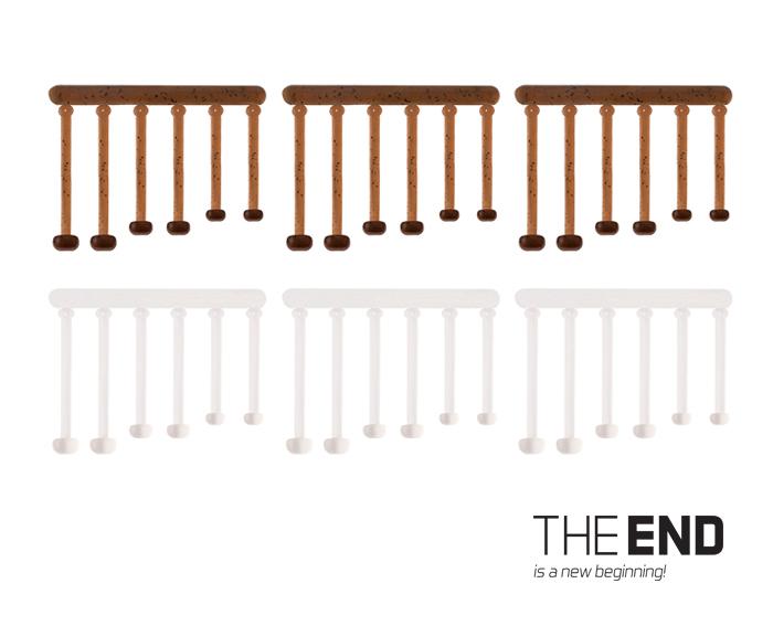 Elastická zarážka nástrahy THE END / 36ks 18,21,25 mm mix