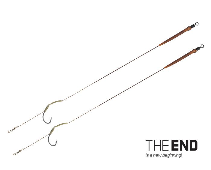 Návazec Delphin THE END Skin RIG 2ks 20cm 25lbs #6