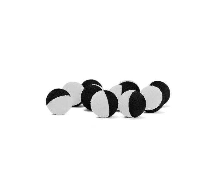 ZIG RIG guličky bielo čierne / 10ks 15mm