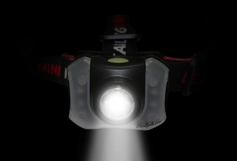 Čelová lampa Delphin POLAR_X 5+4 LED