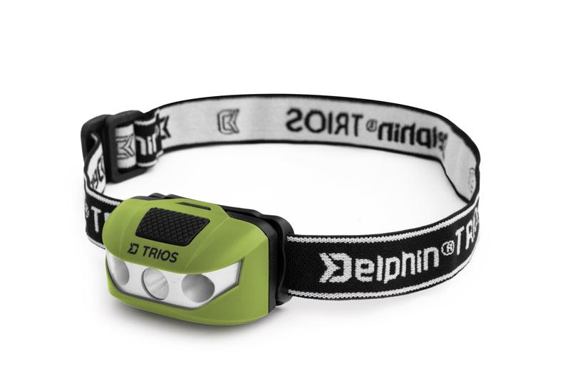 Čelová lampa Delphin TRIOS1W