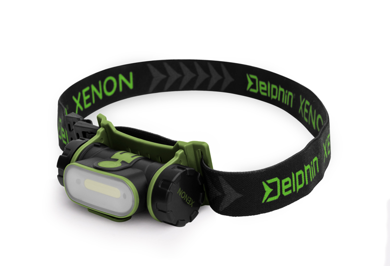 Čelová lampa Delphin XENON5W