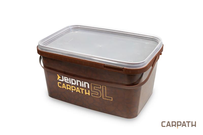 Hranaté vědro s víkem Delphin CARPATH 5l