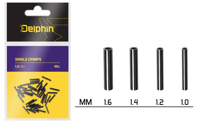Delphin Single CRIMPS /40ks 1.0mm